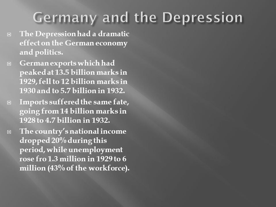 Germany and the Depression