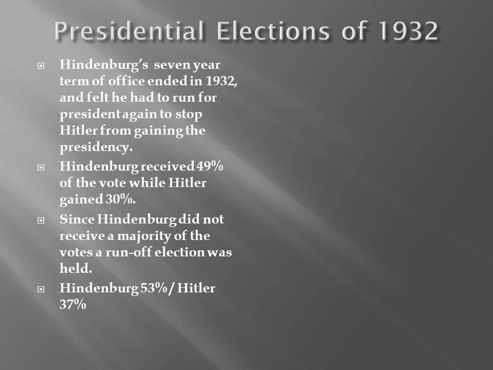 Presidential Elections of 1932