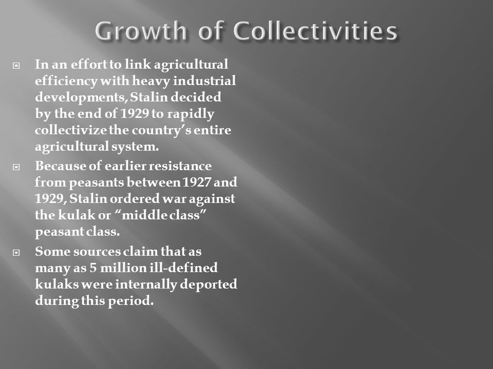Growth of Collectivities