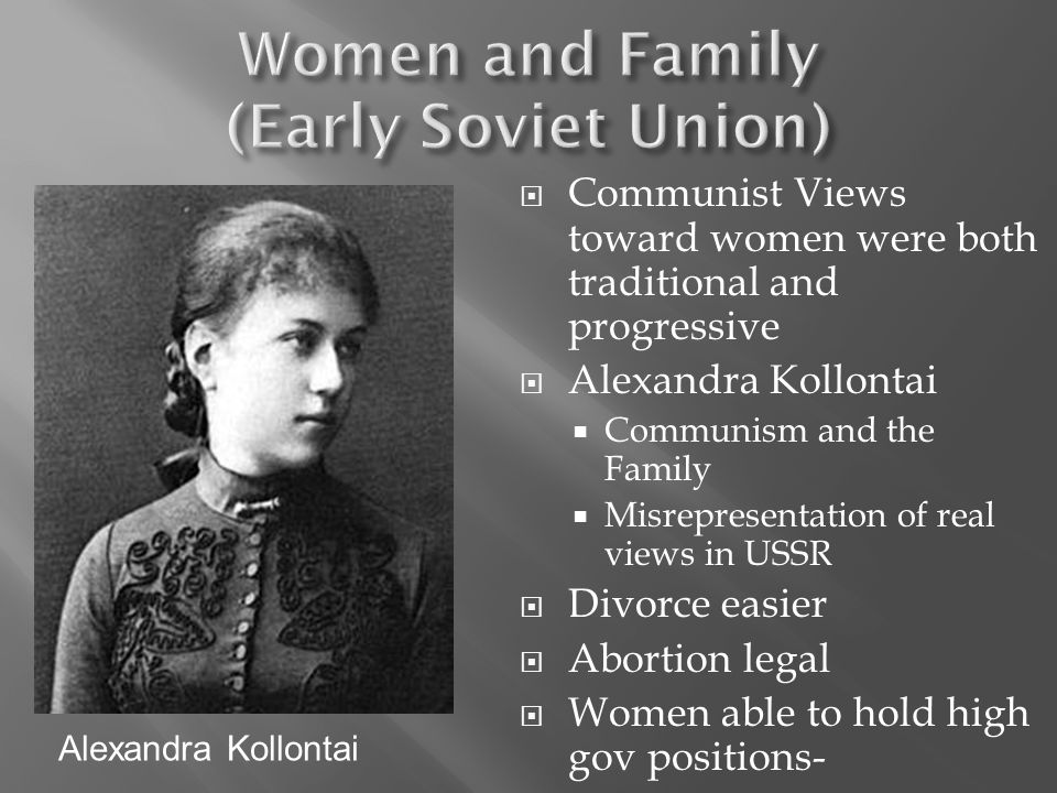 Women and Family (Early Soviet Union)