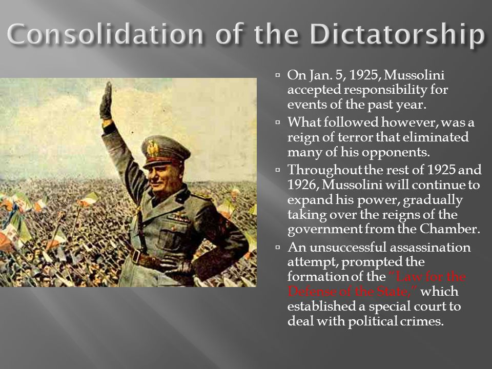 Consolidation of the Dictatorship