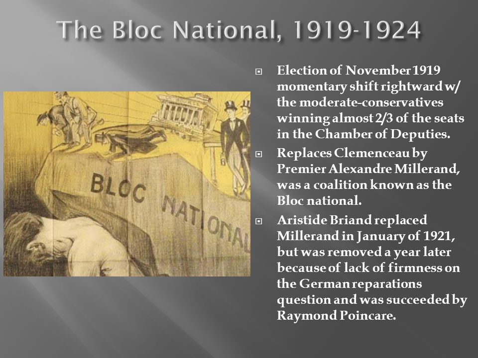 The Bloc National, 1919-1924