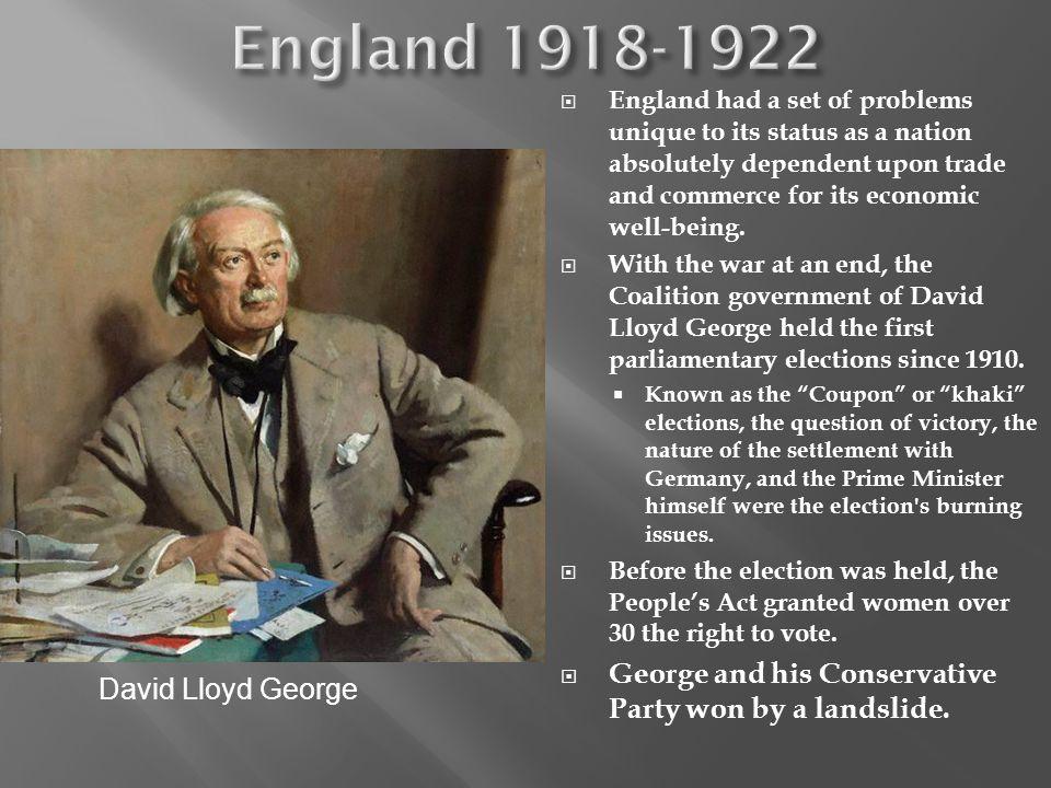 England 1918-1922