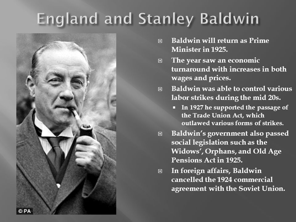 England and Stanley Baldwin