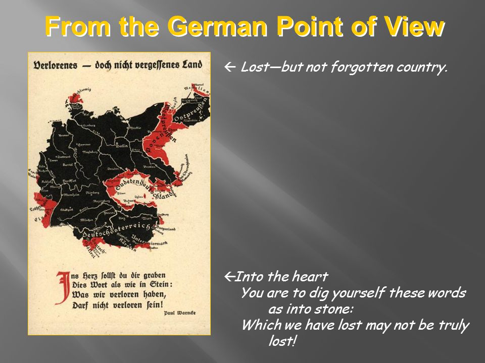 From the German Point of View