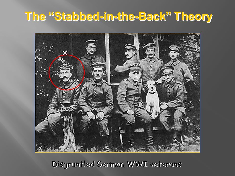 The Stabbed-in-the-Back Theory