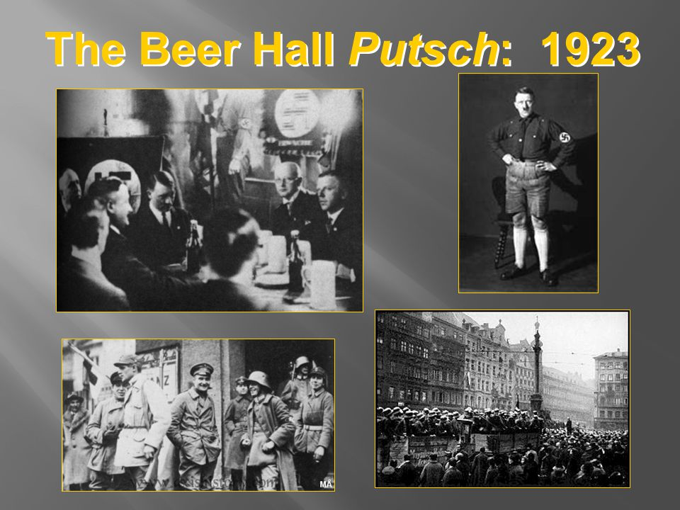 The Beer Hall Putsch: 1923