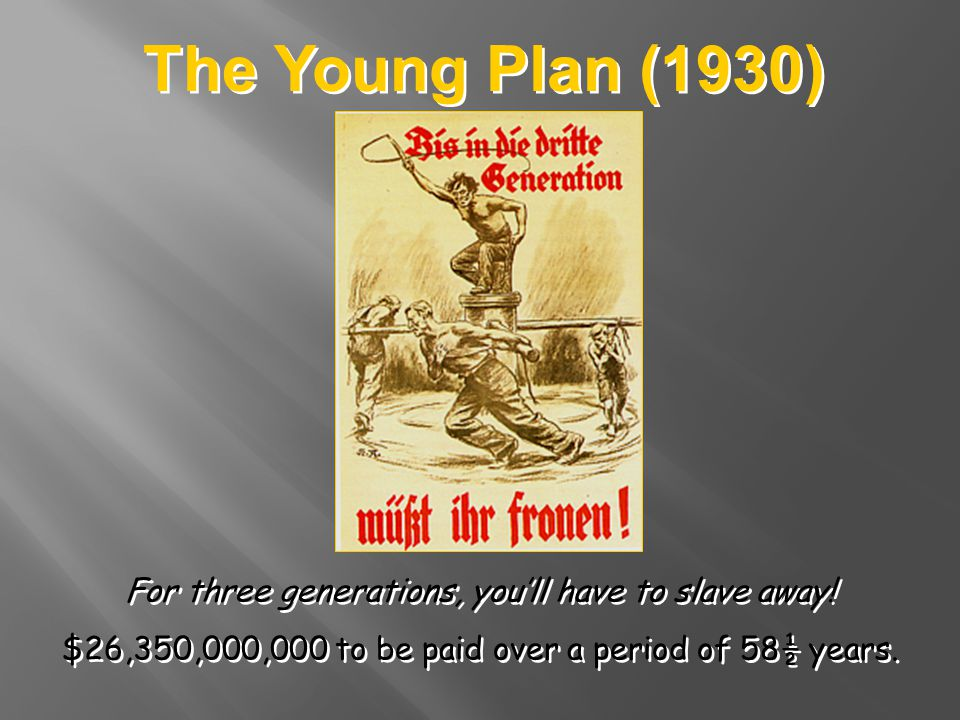 The Young Plan (1930) For three generations, you'll have to slave away.