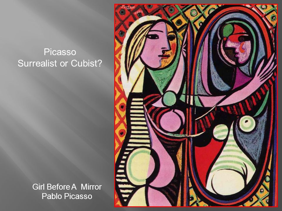 Picasso Surrealist or Cubist Girl Before A Mirror Pablo Picasso