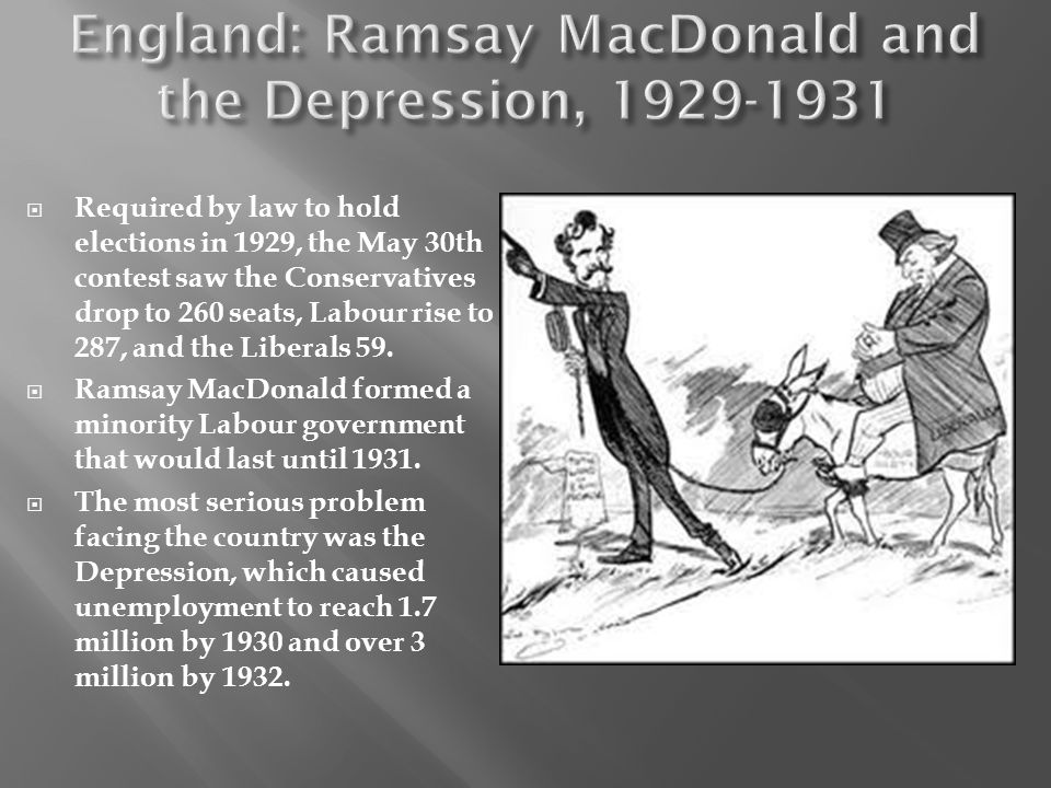 England: Ramsay MacDonald and the Depression, 1929-1931