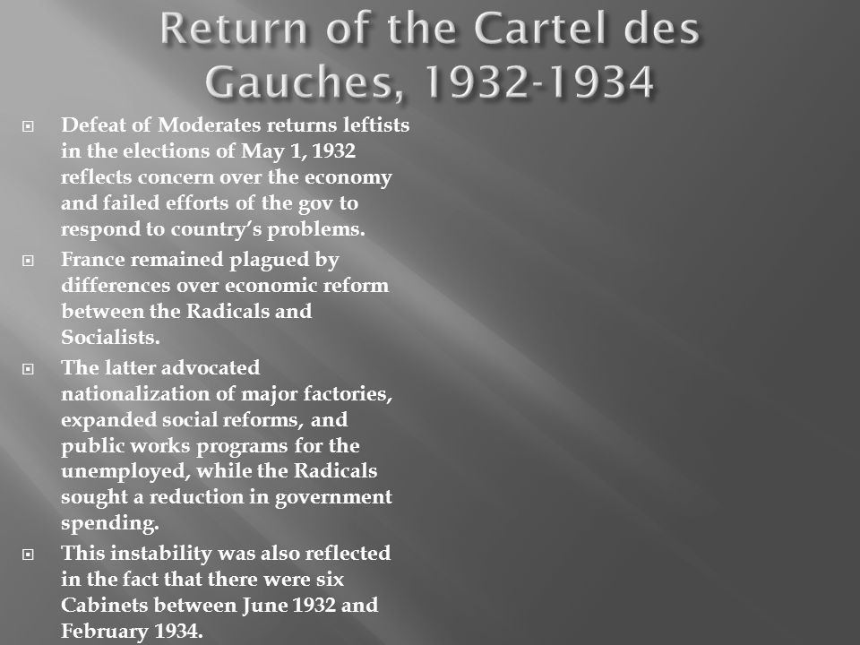 Return of the Cartel des Gauches, 1932-1934