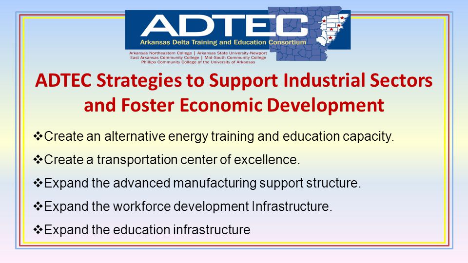 ADTEC Strategies to Support Industrial Sectors and Foster Economic Development