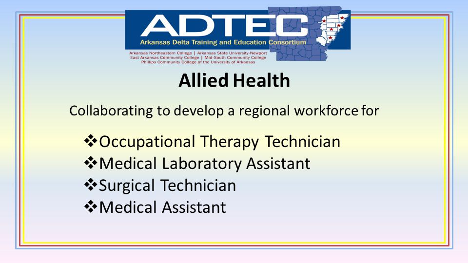 Allied Health Occupational Therapy Technician