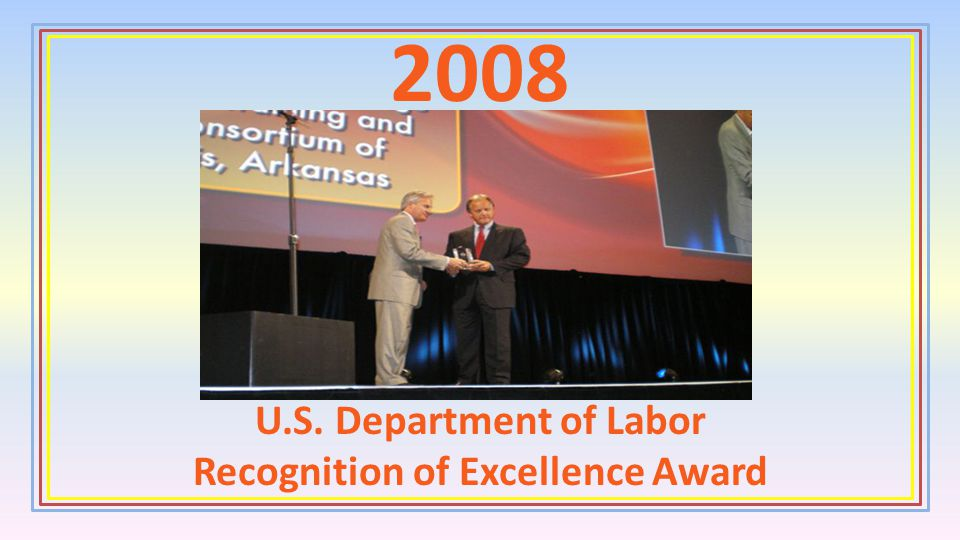 U.S. Department of Labor Recognition of Excellence Award