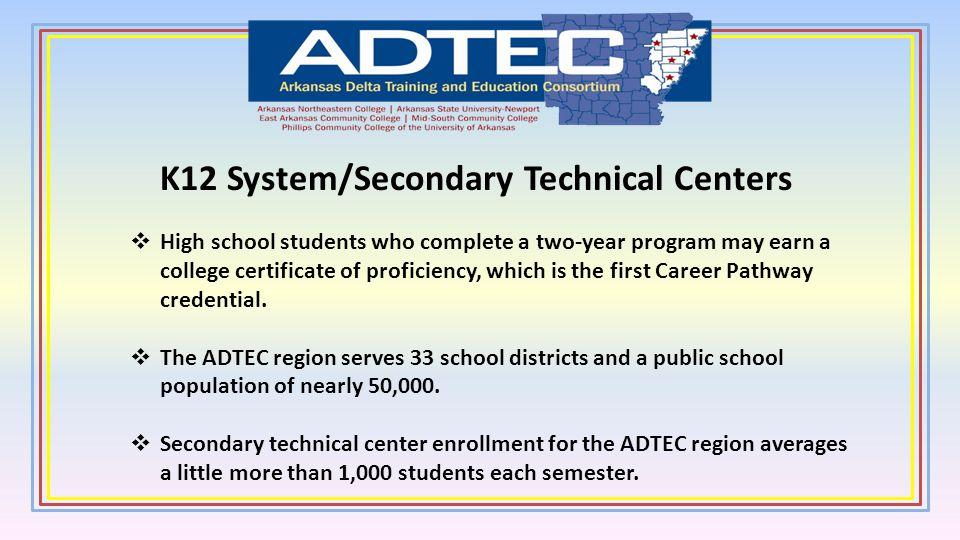 K12 System/Secondary Technical Centers