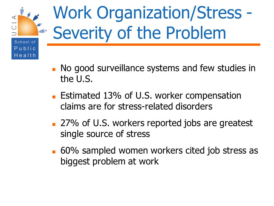 Work Organization/Stress - Severity of the Problem