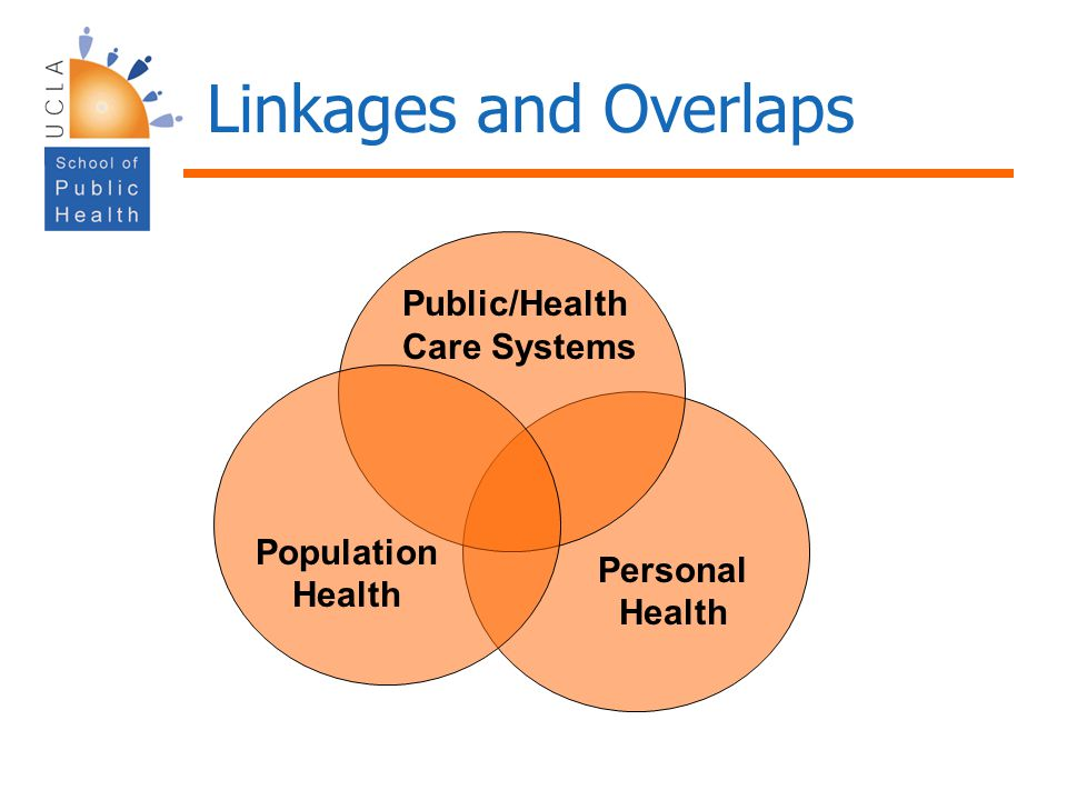 Linkages and Overlaps Public/Health Care Systems Population Health