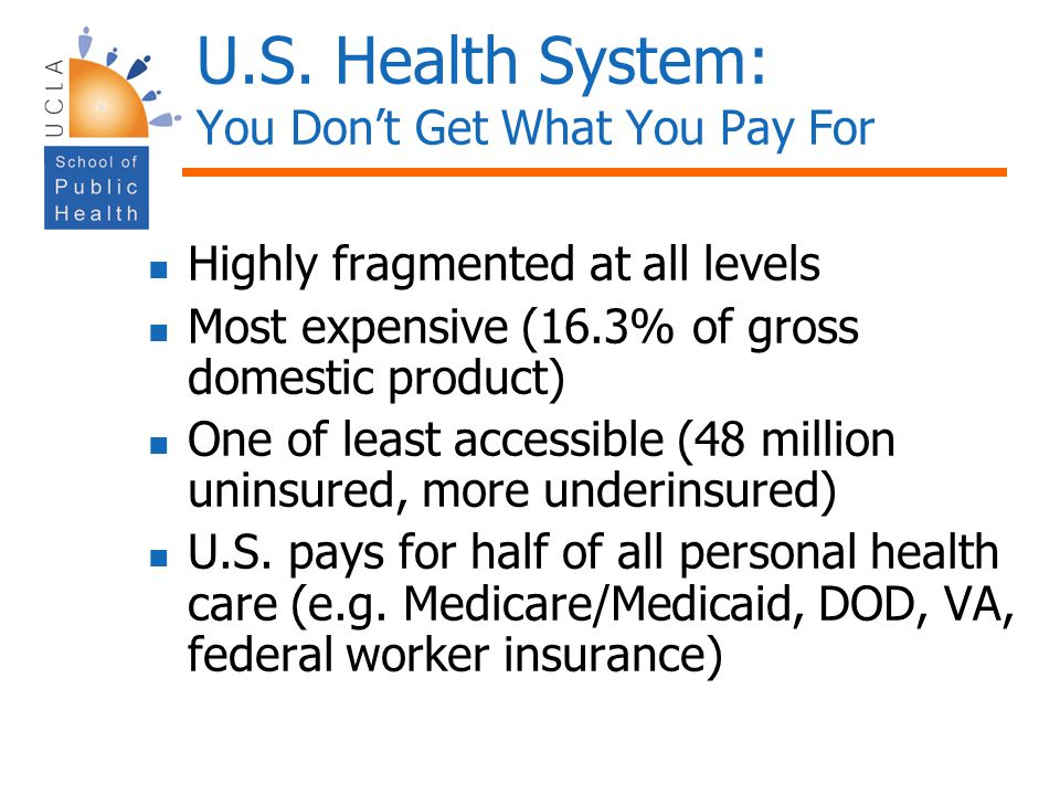 U.S. Health System: You Don't Get What You Pay For