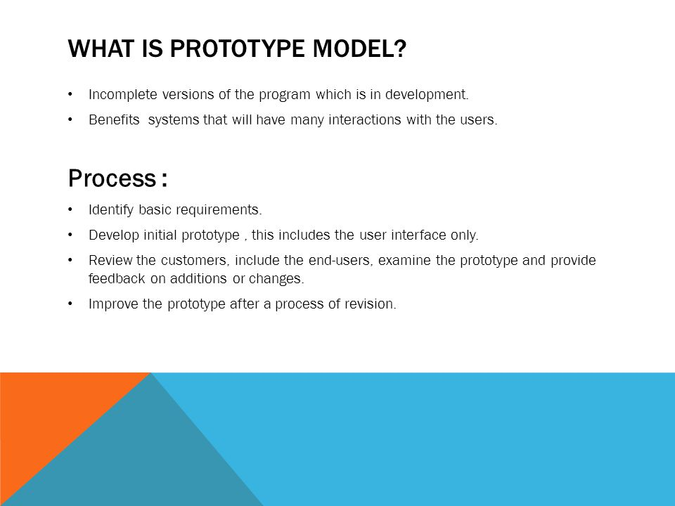 What is prototype model
