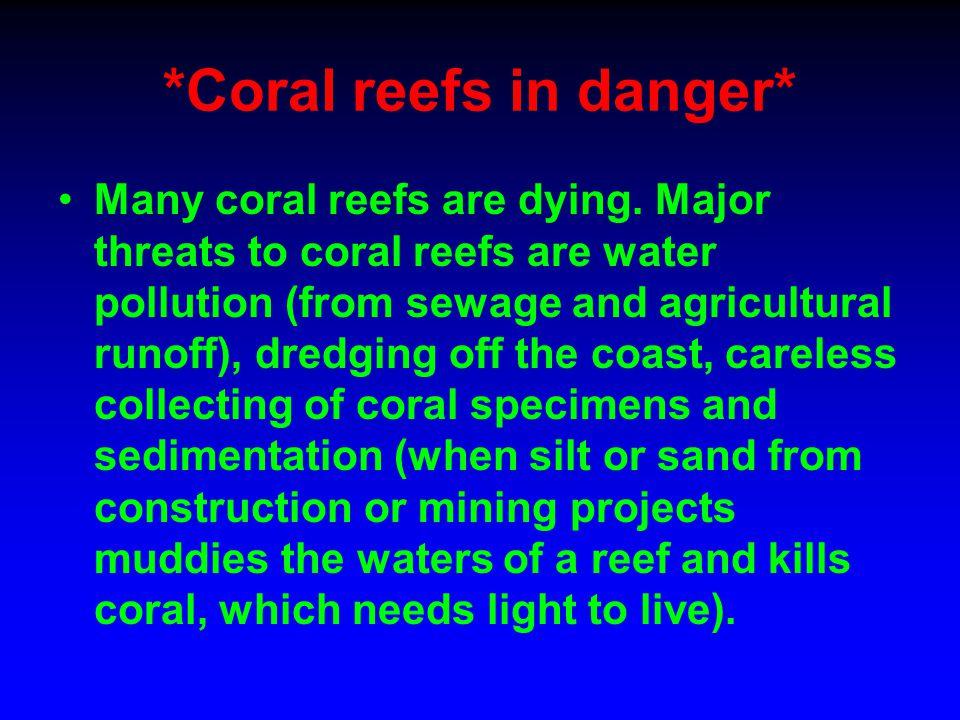 *Coral reefs in danger*