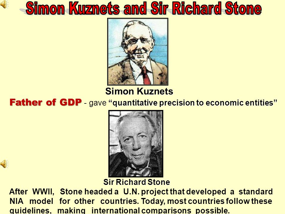 Simon Kuznets and Sir Richard Stone