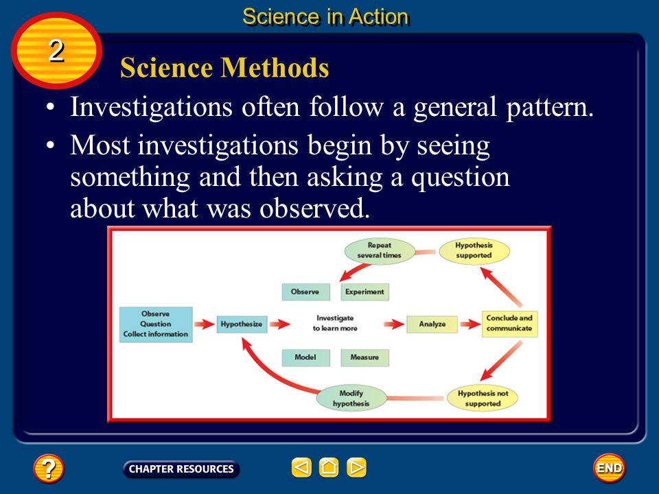 Investigations often follow a general pattern.