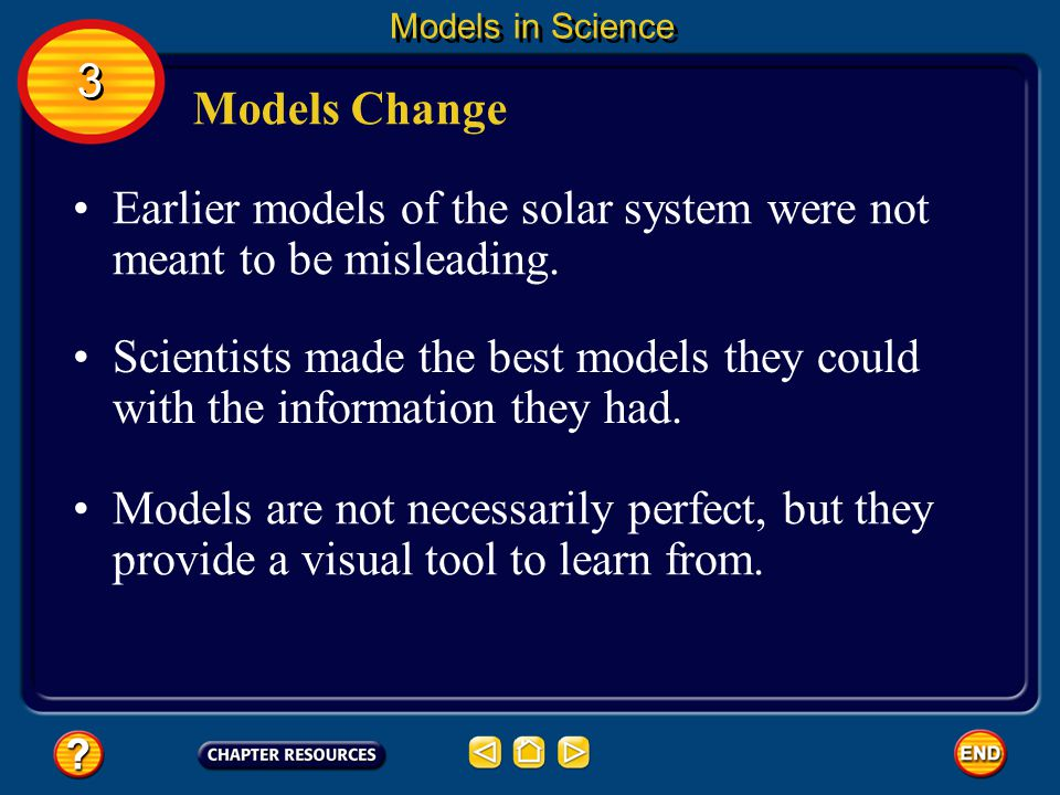 Earlier models of the solar system were not meant to be misleading.