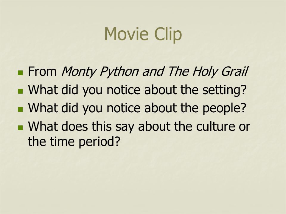 Movie Clip From Monty Python and The Holy Grail