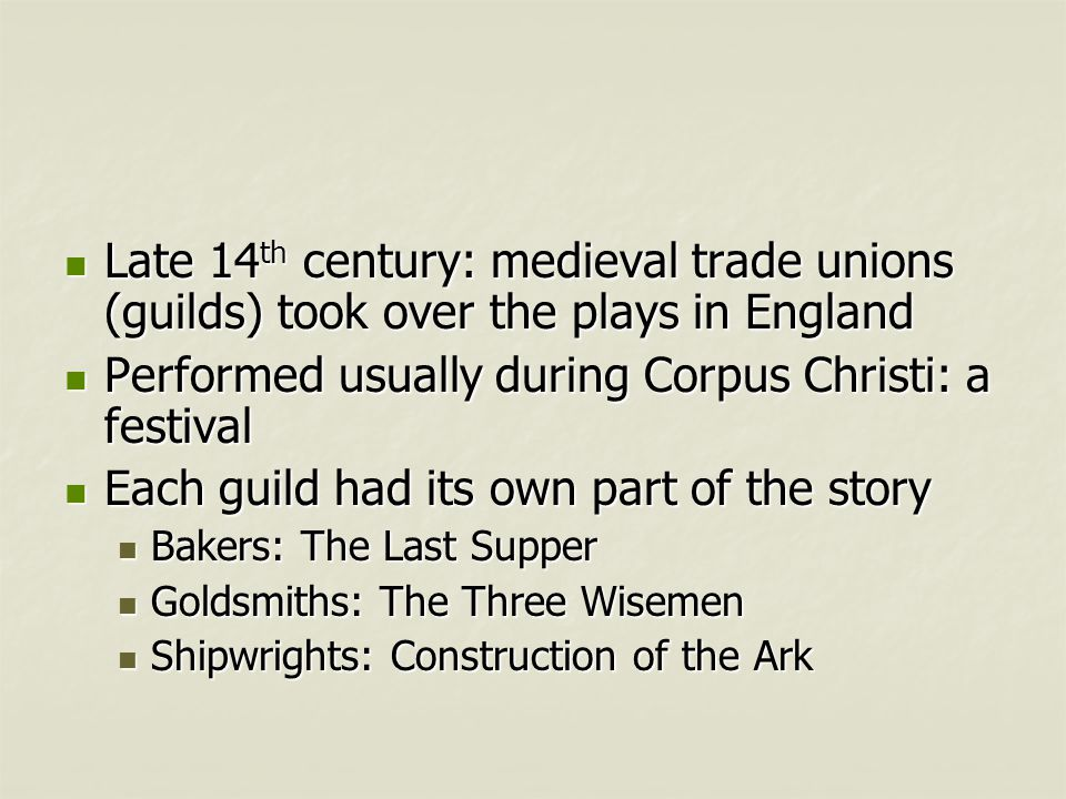 Performed usually during Corpus Christi: a festival