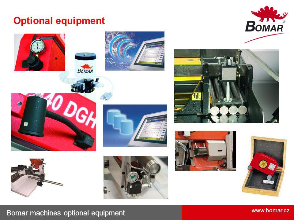 Optional equipment Bomar machines optional equipment