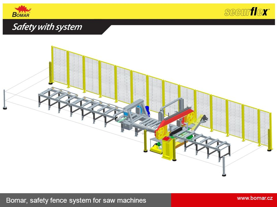 Bomar, safety fence system for saw machines
