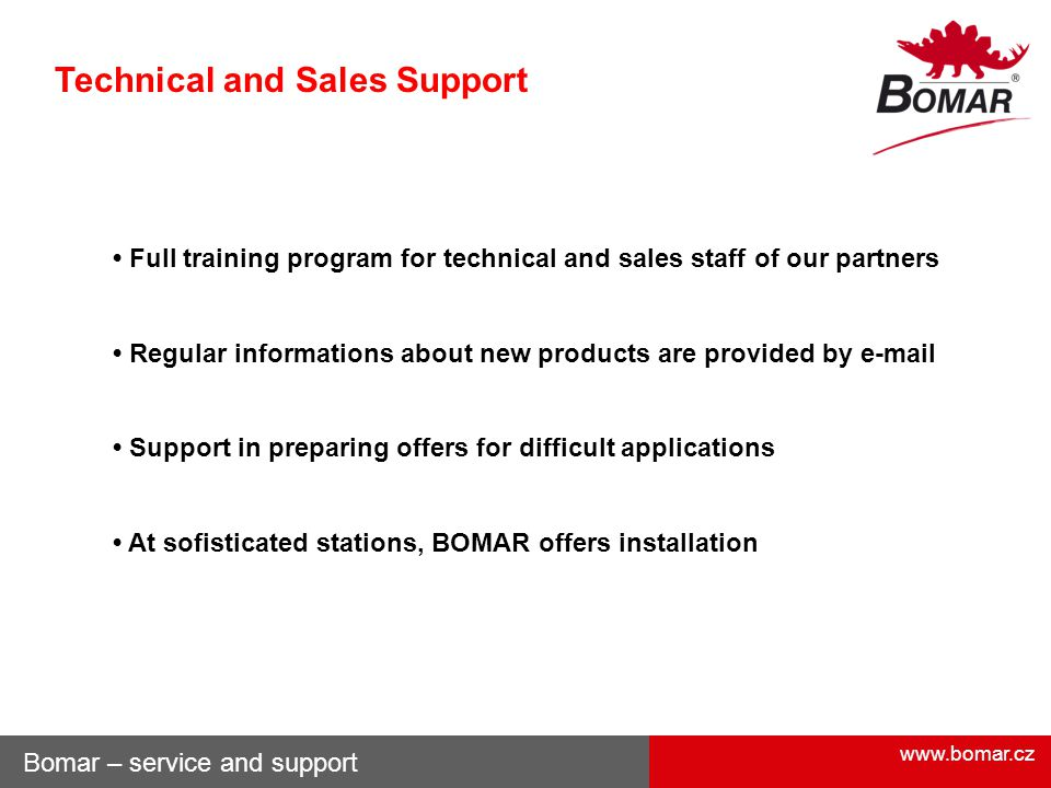 Technical and Sales Support