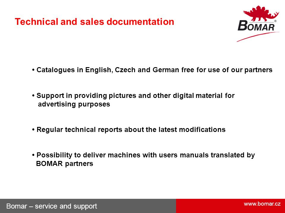 Technical and sales documentation