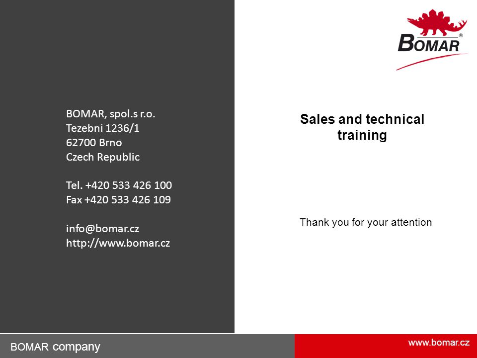 Sales and technical training