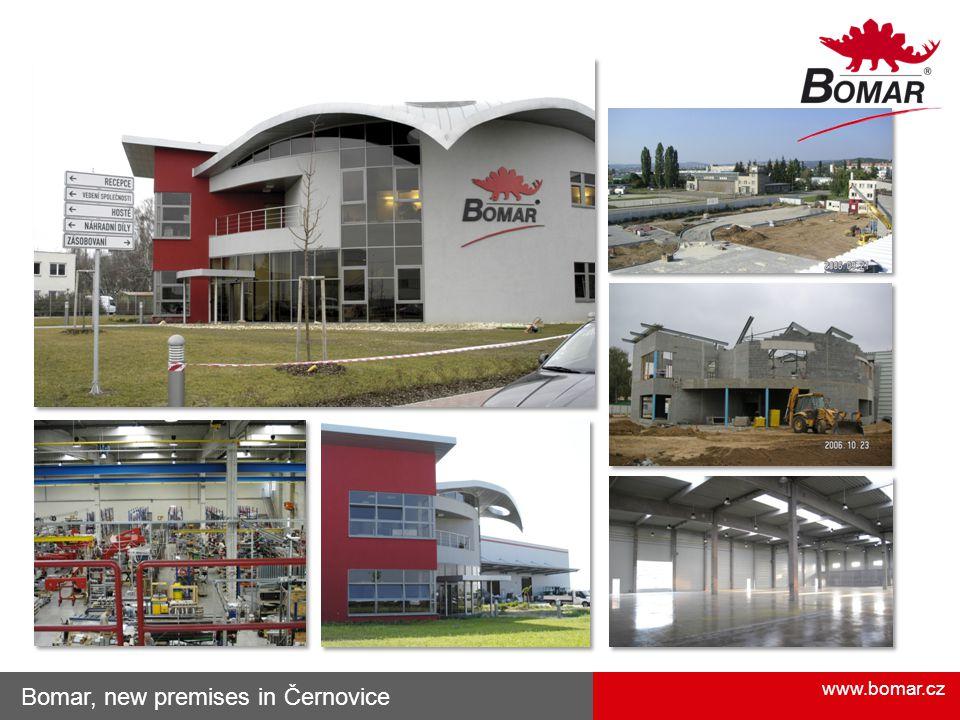 Bomar, new premises in Černovice