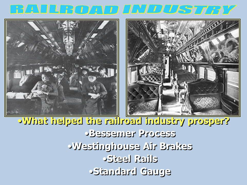 What helped the railroad industry prosper Westinghouse Air Brakes