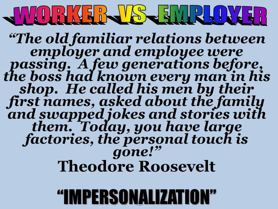 Picture: Workers vs Owner