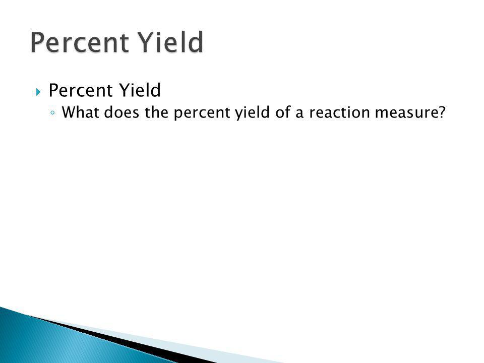 Percent Yield 12.3 Percent Yield