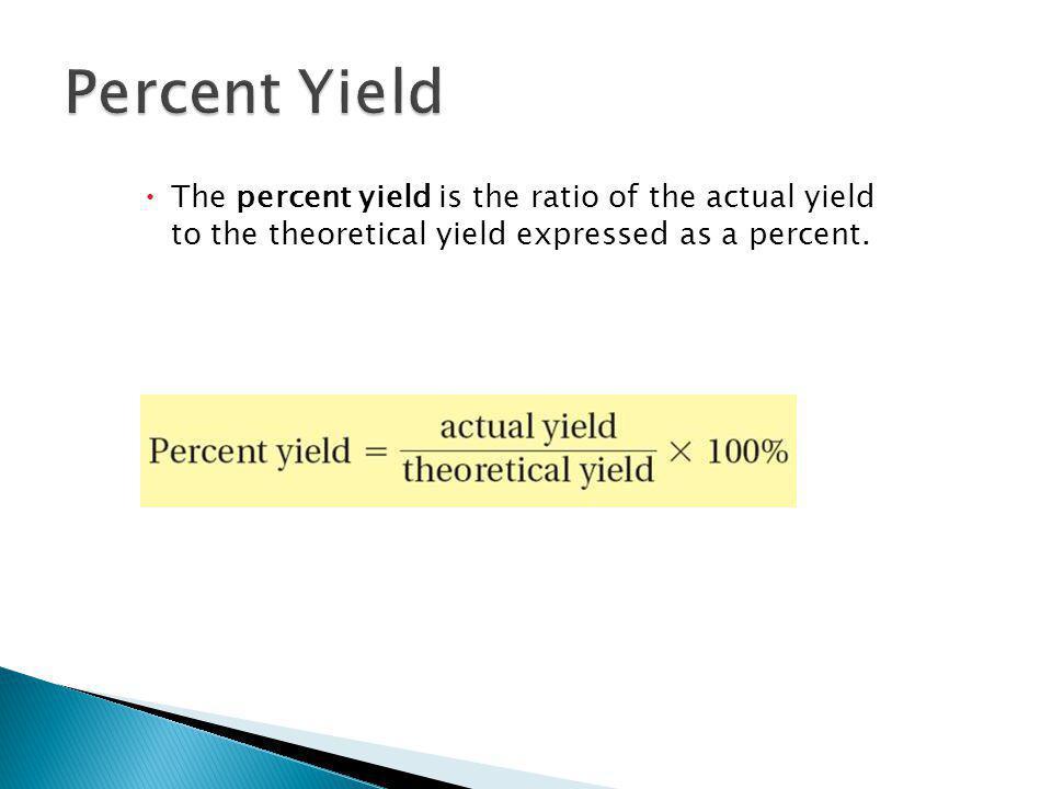 12.3 Percent Yield.