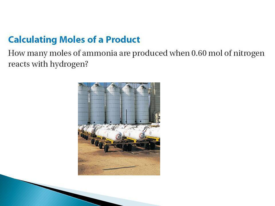 Manufacturing plants produce ammonia by combining nitrogen with hydrogen.
