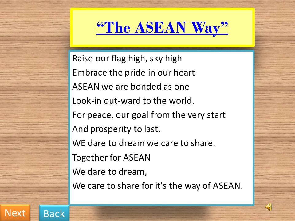 The ASEAN Way Next Back