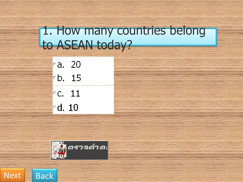 1. How many countries belong to ASEAN today