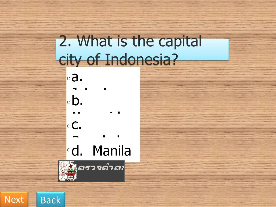 2. What is the capital city of Indonesia