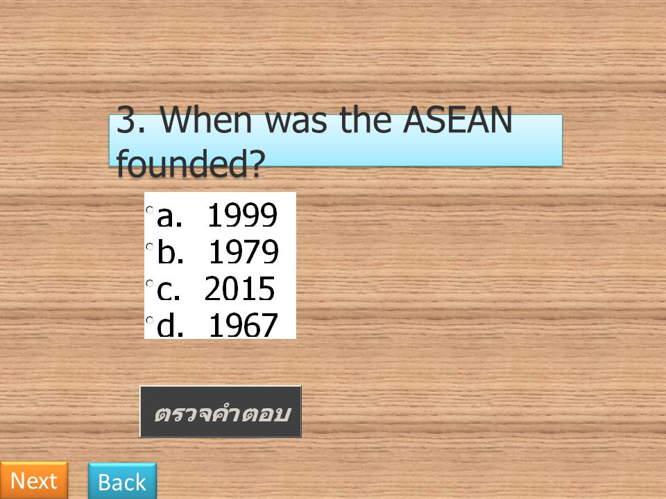 3. When was the ASEAN founded