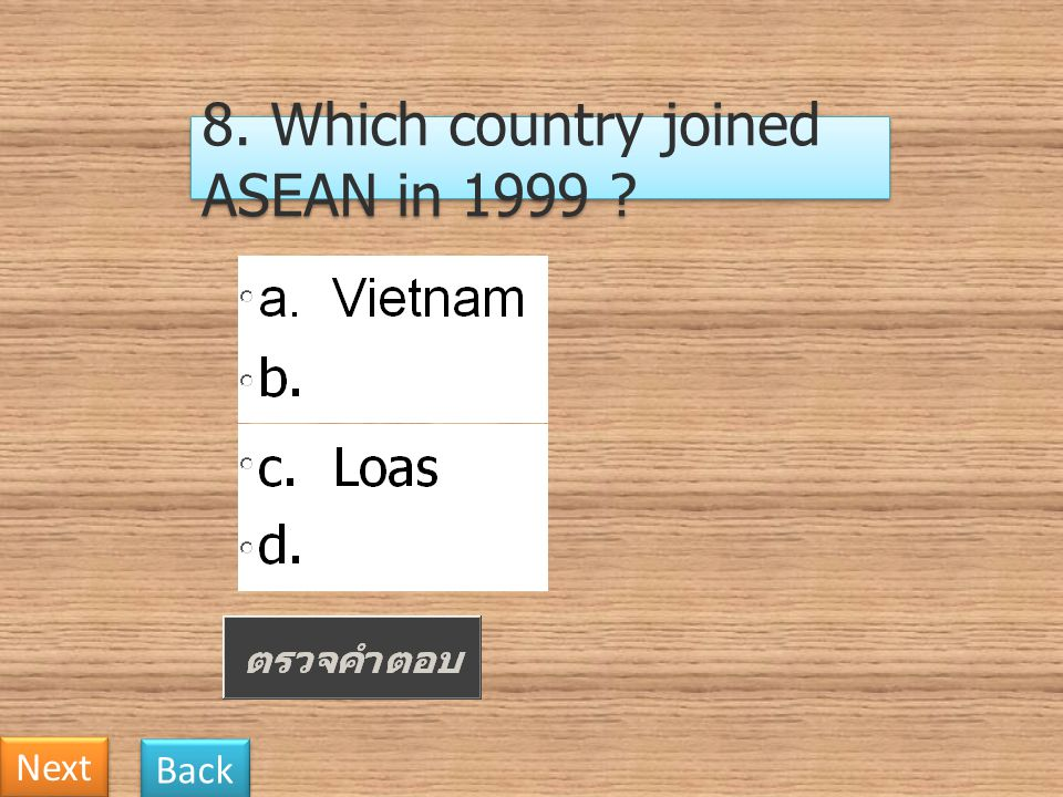 8. Which country joined ASEAN in 1999