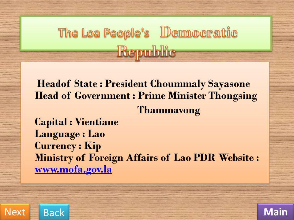 The Loa People s Democratic Republic