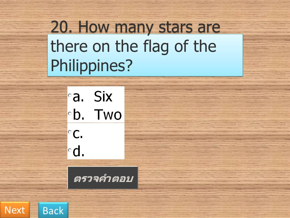 20. How many stars are there on the flag of the Philippines