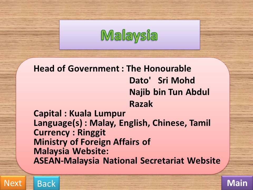 Malaysia Dato Sri Mohd Najib bin Tun Abdul