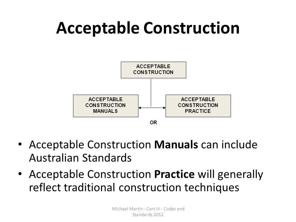 Acceptable Construction