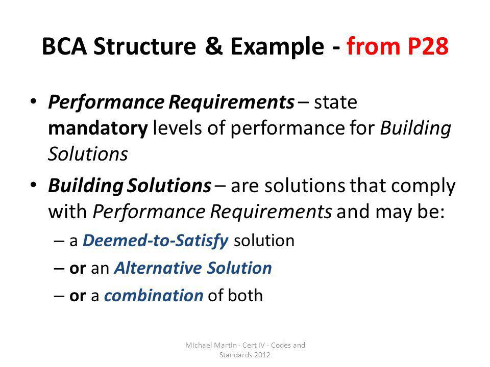 BCA Structure & Example - from P28